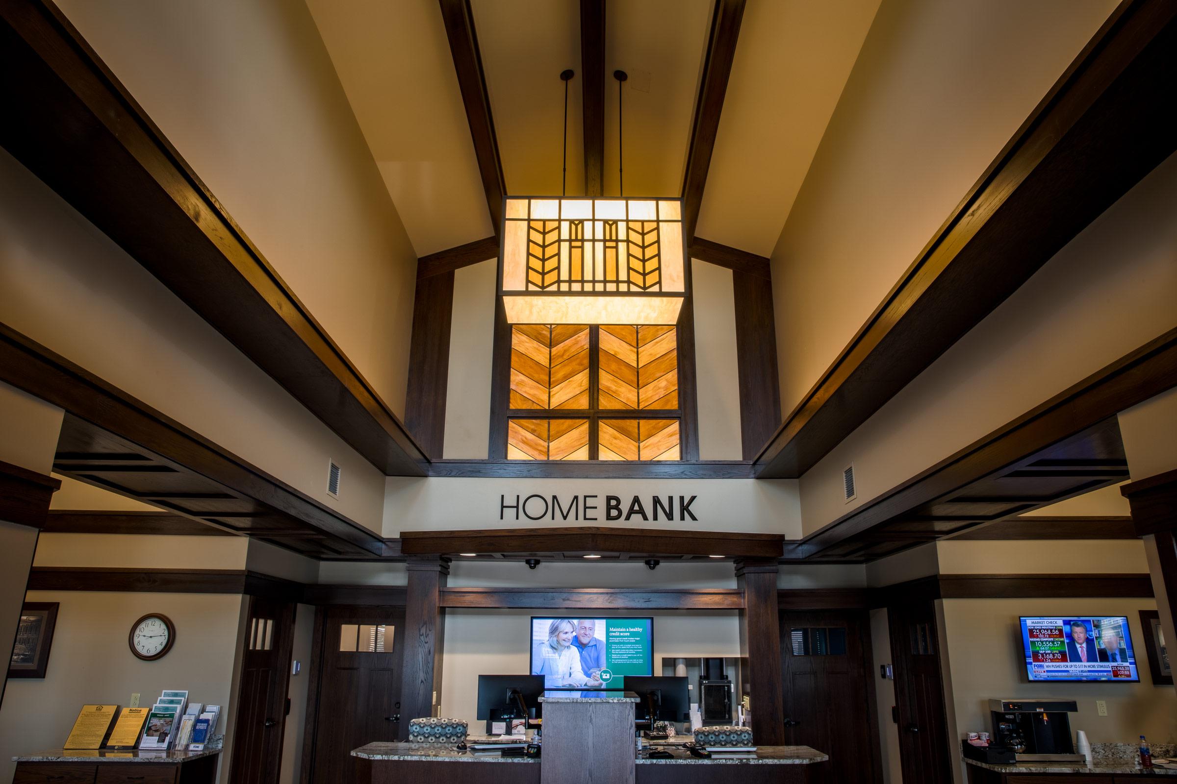 Homebank building lobby