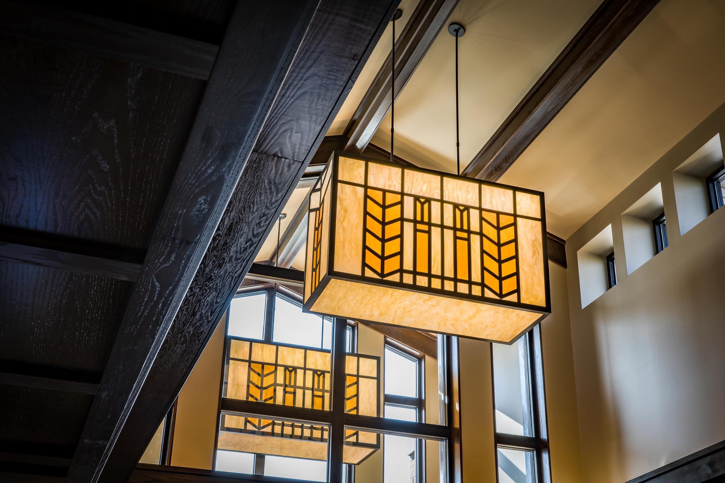Homebank lobby ceiling lights