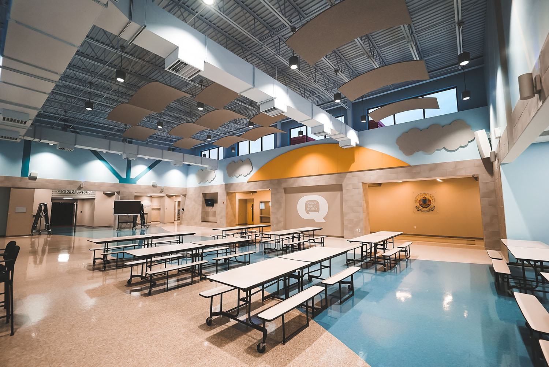 Denman Elementary School cafeteria