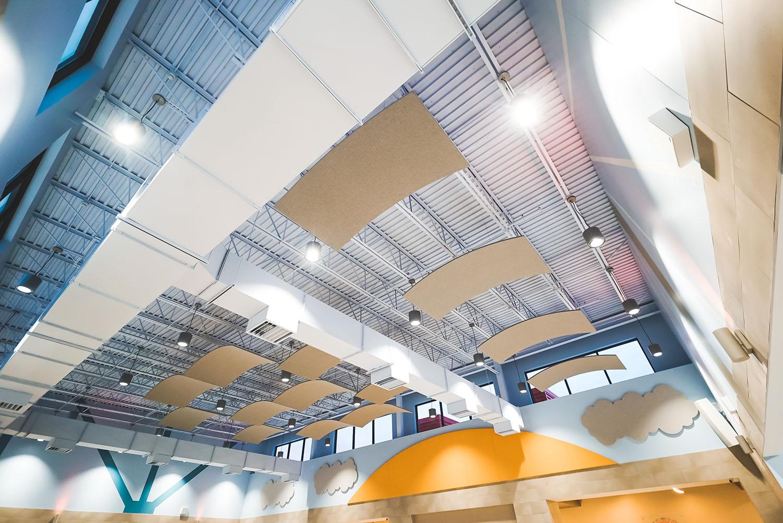 Denman Elementary School ceiling
