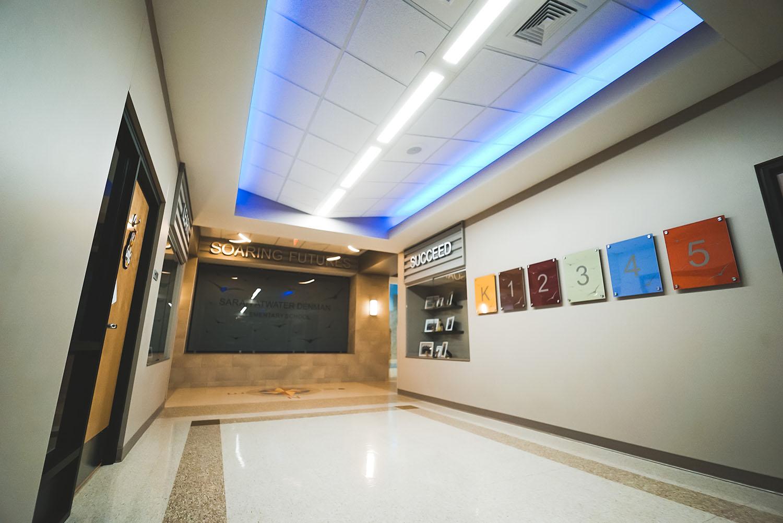 Denman Elementary School hallway