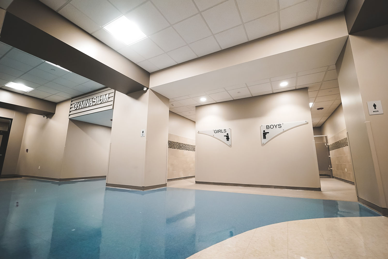 Denman Elementary School bathrooms