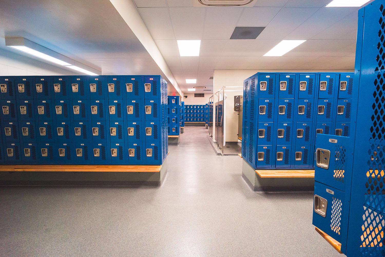 Quincy High School locker room