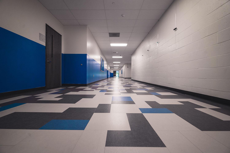 Quincy High School hallway