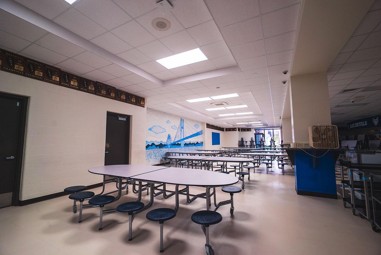 Quincy High School cafeteria