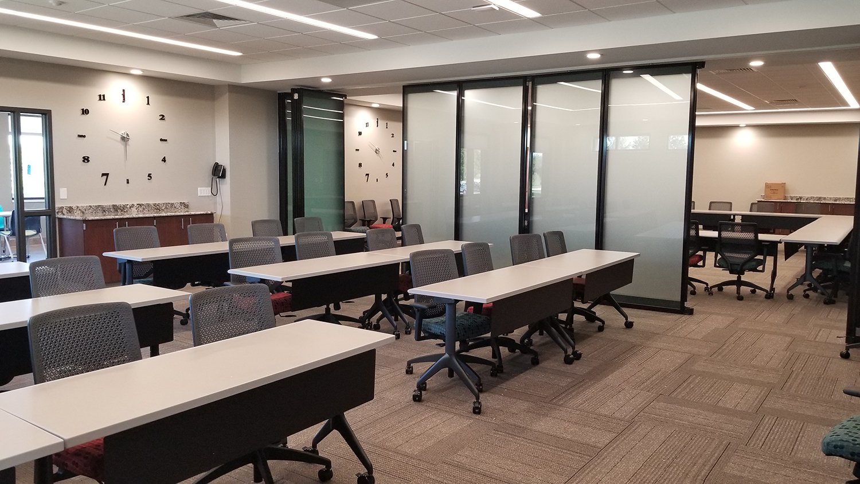 Inside the Mark Twain Behavioral Health center building