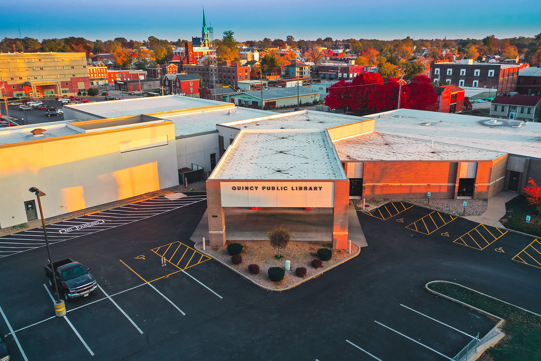 Quincy Public Library building exterior in Quincy, Illinois