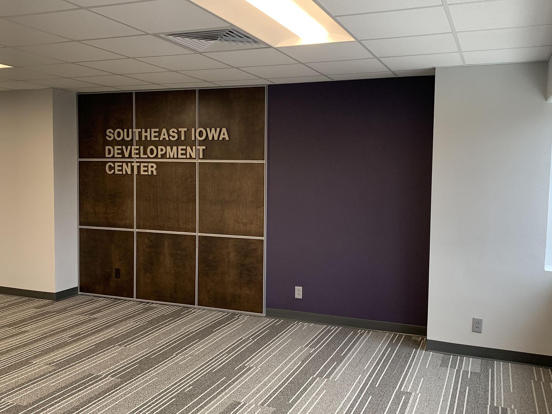 Southeast Iowa Development Center colored wall
